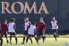 Allenamento Roma 24/20/2014, rifinitura in vista della partita di domani