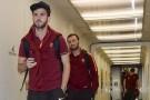 La Roma � atterrata a Genova