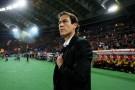 Rudi Garcia intervistato dopo la vittoria della Roma contro il Feyenoord