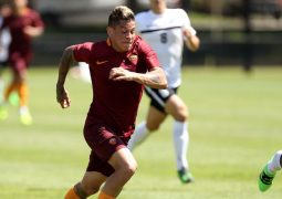 CAMBRIDGE, MA - JULY 27: Juan Manuel Iturbe #7 of AS Roma controls the ball during a friendly match against the Boston Bolts at Ohiri Field on July 27, 2016 in Cambridge, Massachusetts.  (Photo by Mike Lawrie/Getty Images)