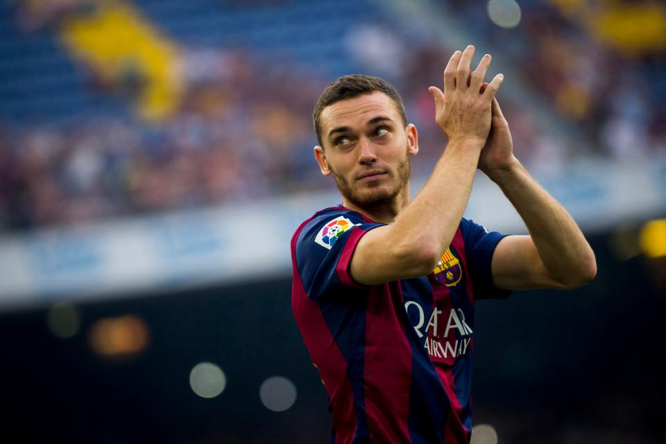 BARCELONA, SPAIN - AUGUST 18: Thomas Vermaelen of FC Barcelona gestures during the Joan Gamper Trophy match against Club Leon at Camp Nou in Barcelona, Spain on August 18, 2014. (Photo by Albert Llop/Anadolu Agency/Getty Images)