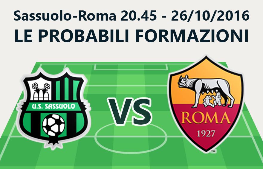 La probabile formazione dei giallorossi nella partita di stasera contro il Sassuolo.