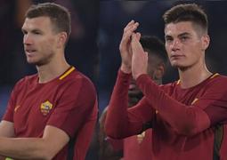 Lazio-Roma, Schick e Dzeko