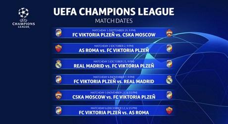 Calendario As Roma Champions League 2018-2019