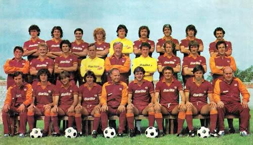 La Rosa della As Roma 1982-1983 campione d'Italia